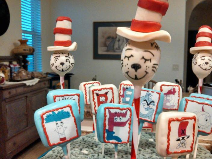 Dr. Seuss inspired cake pops are sure to delight.
