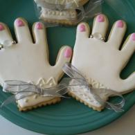 Delicious bridal shower cookies that are sweet to eat.
