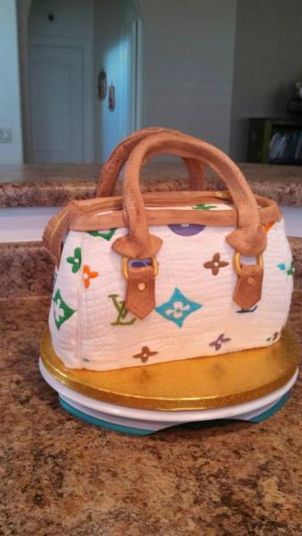 Celebrate her birthday with a cake fashioned like her favorite handbag!]