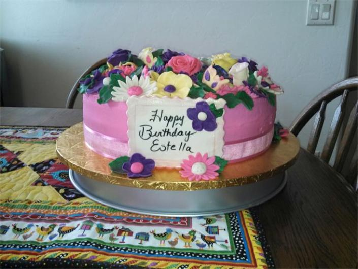Birthday Cakes Photo Gallery ~ Floral birthday cake party cakes gallery