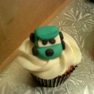 Yummy cupcake with one of the Cars characters.